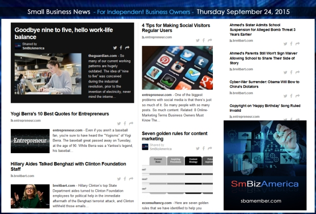 Small Business News 09242015