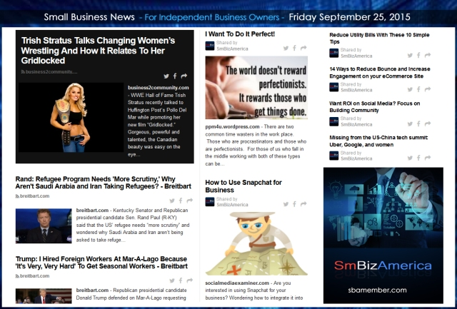 Small Business News 09252015