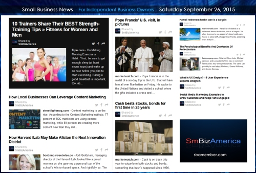 Small Business News 09262015