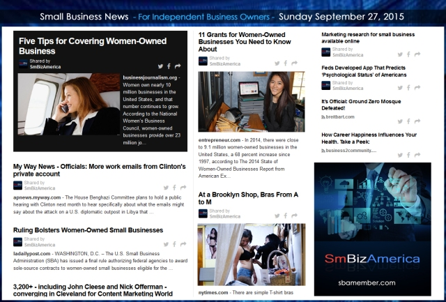 Small Business News 09272015
