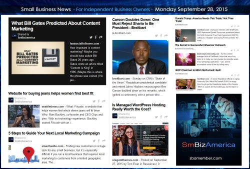 Small Business News 09282015