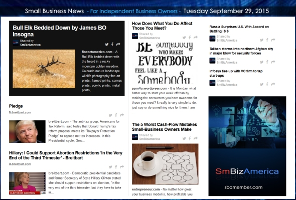 Small Business News 09292015