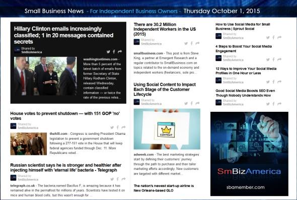 Small Business News 10012015