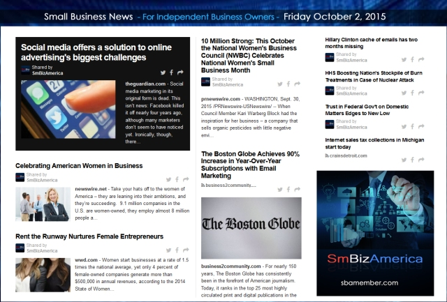 Small Business News 10022015
