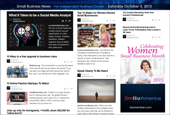 Small Business News 10032015