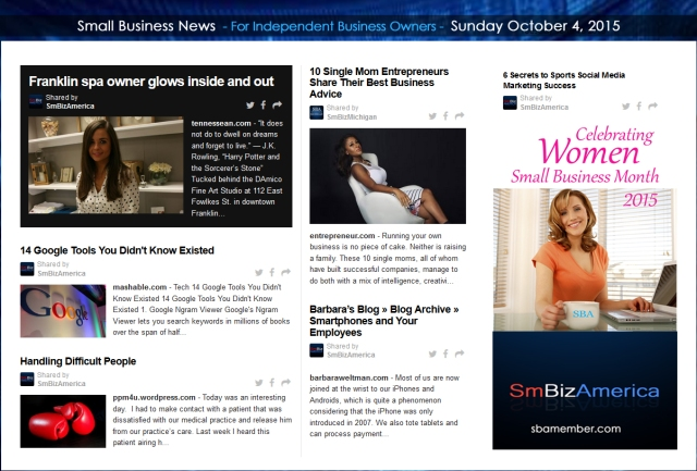 Small Business News 10042015