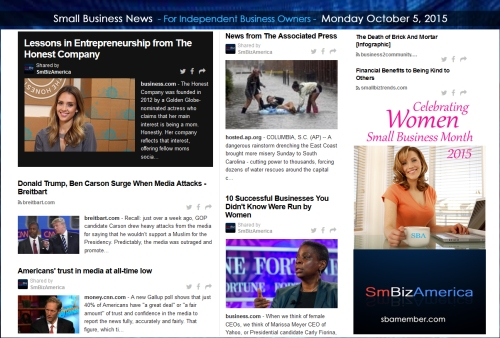 Small Business News 10052015