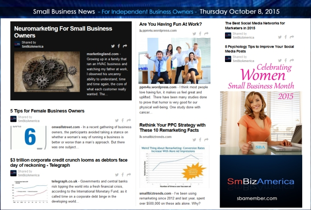 Small Business News 10082015