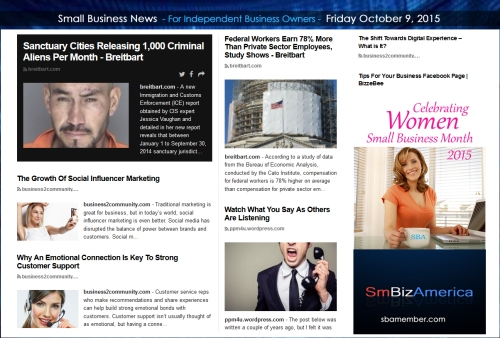 Small Business News 10092015