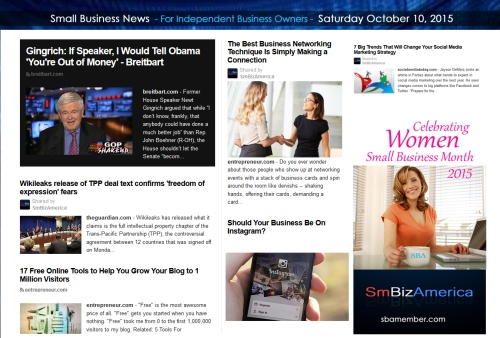Small Business News 10102015