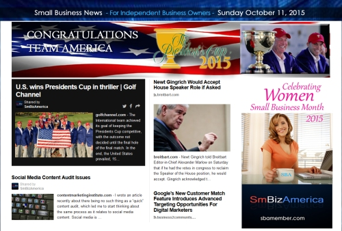 Small Business News 10112015