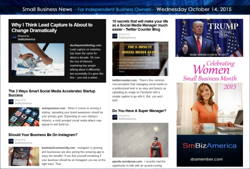 Small Business News 10142015