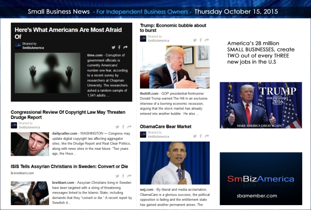 Small Business News 10152015