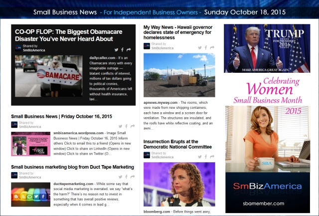 Small Business News 10182015