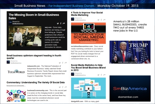 Small Business News 101915