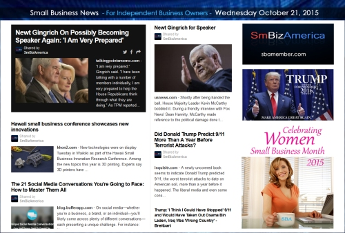 Small Business News 102115