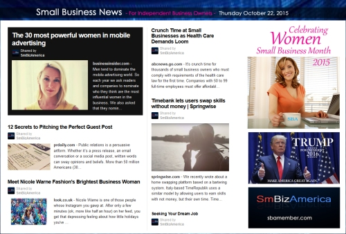 Small Business News 102215