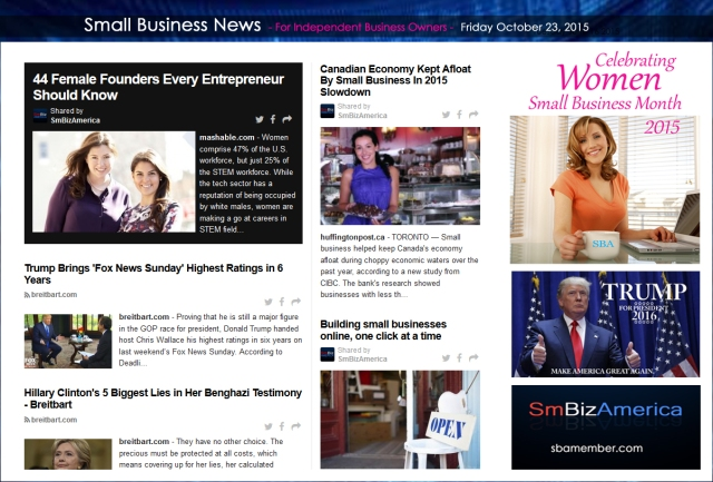 Small Business News 102315