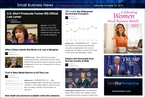 Small Business News 102415