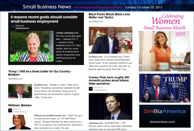 Small Business News 102515