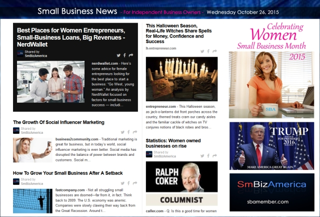 Small Business News 102615