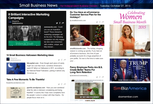 Small Business News 102715