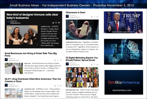 Small Business News 11052015