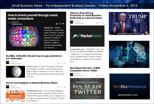 Small Business News 11062015