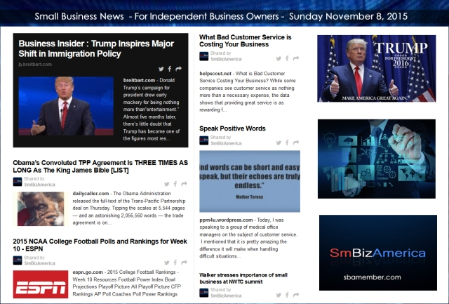 Small Business News 11082015