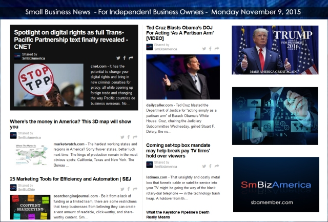 Small Business News 11092015