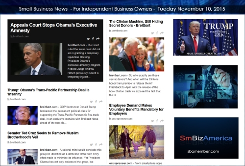 Small Business News 11102015
