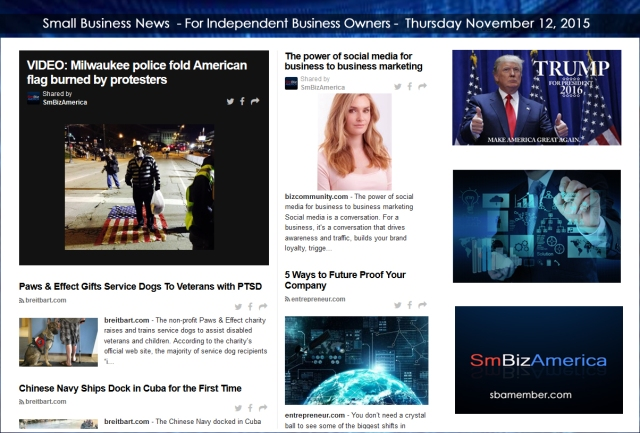 Small Business News 11122015