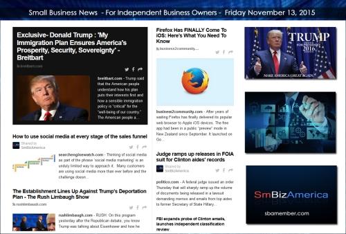 Small Business News 11132015
