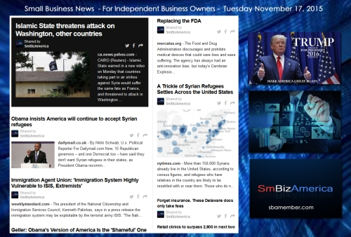 Small Business News 11172015