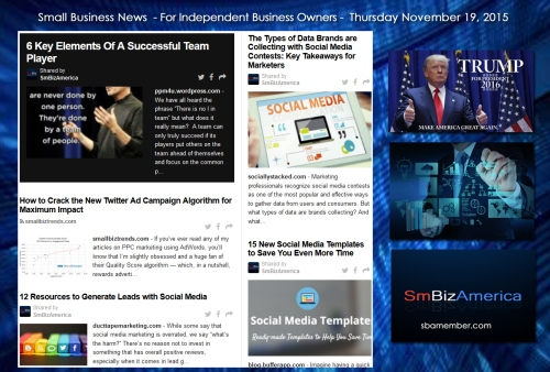 Small Business News 11192015