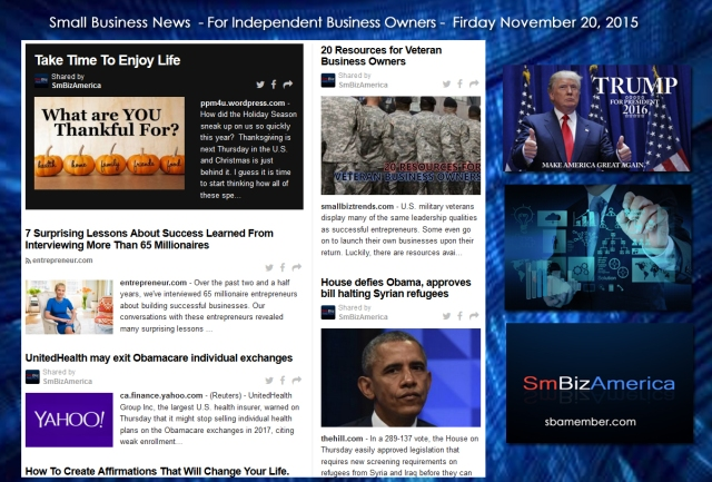 Small Business News 11202015