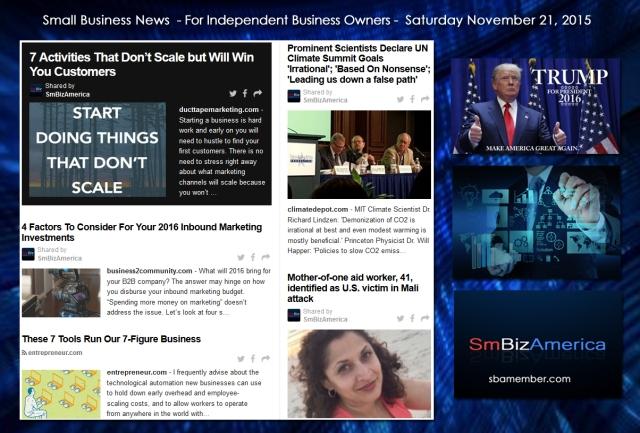 Small Business News November 21 2015