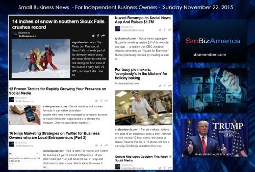 Small Business News November 22 2015