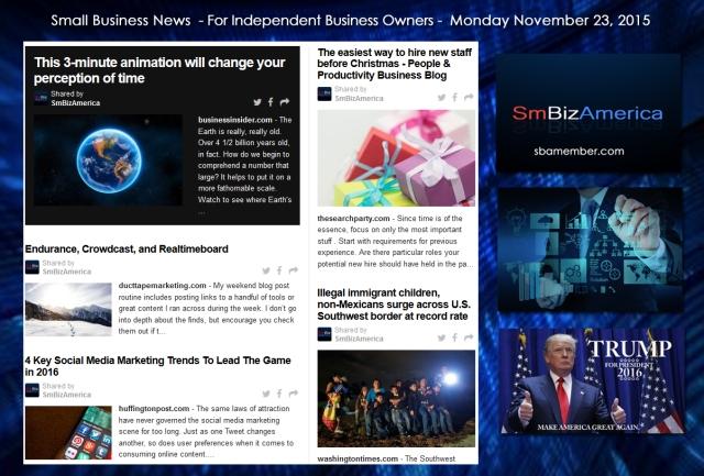 Small Business News November 23 2015