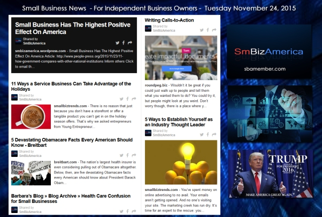 Small Business News November 24 2015