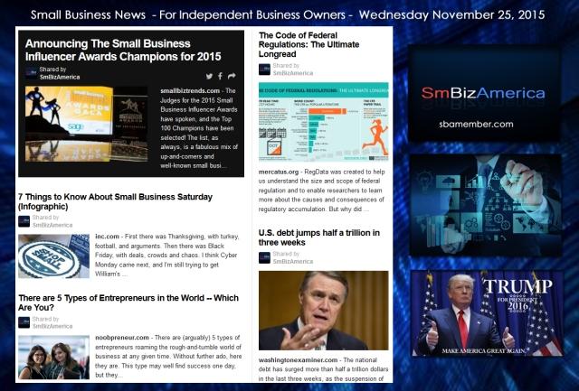 Small Business News November 25 2015