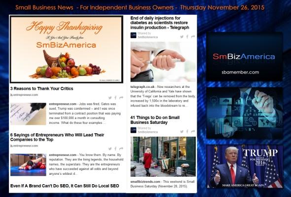 Small Business News November 26 2015