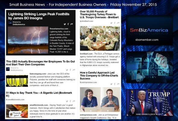 Small Business News November 27 2015