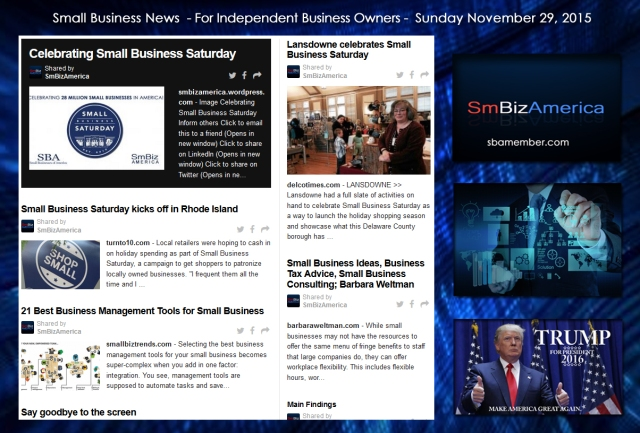 Small Business News November 29 2015