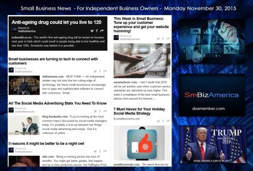 Small Business News November 30 2015