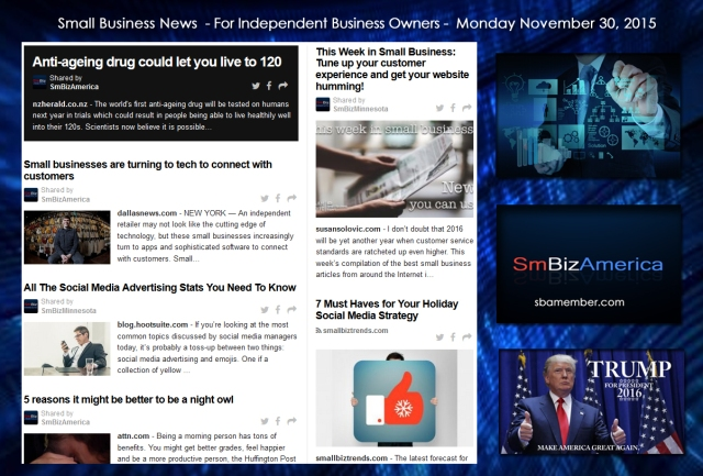 Small Business News November 30 2015