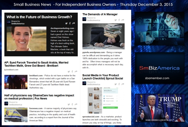 Small Business News 12032015