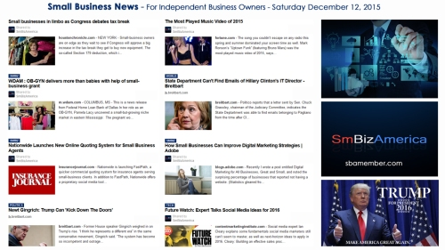 SMALL BUSINESS NEWS December 12 2015