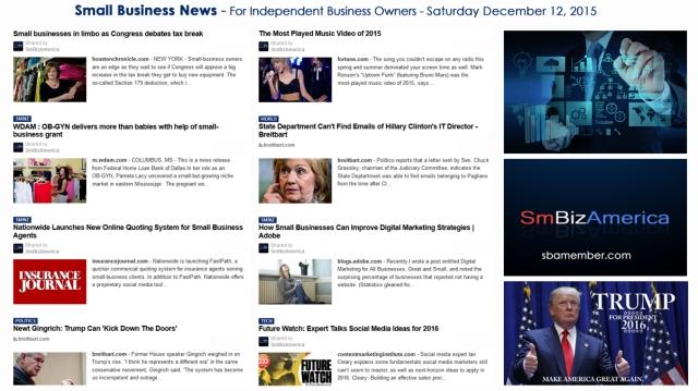 SMALL BUSINESS NEWS December 12 2015