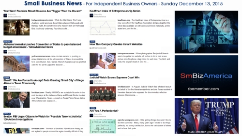 SMALL BUSINESS NEWS December 13 2015